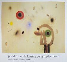 Joan Miro Personnage devant le soleil Poster Kunstdruck Bild 67,3x74,8cm
