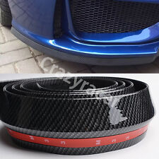 Universal Rubber Front Bumper Edge Strip Chin Protection Side Skirts Spoiler Lip