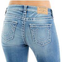 True Religion Women's Big T Curvy Skinny Fit Stretch Jeans in Light Gaze