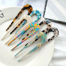 Elegance Vintage Geometric U-shaped Acrylic Fork Hairpins Headwear  for Wome_AW