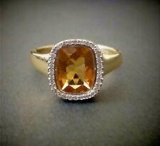 Harry Ivens Ring Gold 375 Goldberyll 2.17ct