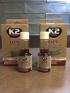 2 x K2 DPF DIESEL Additive Concentrated Particulate Filter Cleaner - 50ml