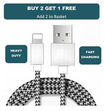 Premium Long Fast Charger Strong Braided Apple iPhone 5 6 7 iPad USB Data Cable