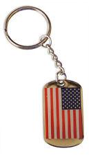 USA Flag American Flag Keychain Dog Tag  FAST USA SHIPPING