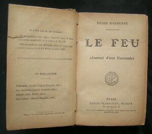 HENRI BARBUSSE - LE FEU -EDITIONS FLAMARION - 1917 - WW1