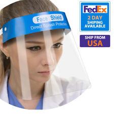 Safety Full Face Shield Clear Guard Protector Anti-Fog Mask w/Elastic Head Band