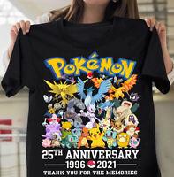 Pokemon-Shirt 25th Anniversary Cartoon Lover Fan Gift Unisex Men Women