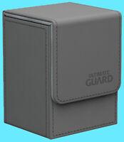 ULTIMATE GUARD XENOSKIN GREY FLIP DECK CASE 80+ Standard Size Card Box mtg ccg