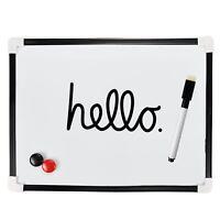 A4 DRY WIPE BOARD Magnetic Mini Office Whiteboard Notice Memo White Pen & Eraser