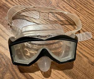 SCUBAPRO Diving / Snorkeling Mask Goggles Cool Vu W/ Black Rim