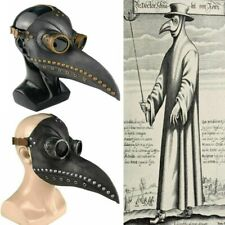 Plague Doctor Mask Birds Mouth Long Nose Beak Faux Latex Steampunk Costume Usa