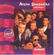 "7"" 45 TOURS FRANCE AFRIKA BAMBAATAA UB 40 ""Reckless / Mind Body And Soul"" 1988"