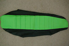 FLU Designs Pleated gripper seat cover Team Kawasaki KX85 KX100 2001-2013