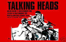 Talking Heads at Paris France Concert Poster 1980