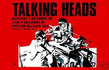 Talking Heads at  Paris France Concert Poster 1980