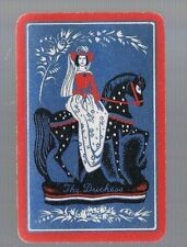 PLAYING CARDS * SWAP CARDS *1 VINTAGE  ENGLISH NAMED LADY HORSE1930/40'S  H/BONE