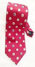 "Silk Irvine Park Burgandy Red Geometric Circle Print 4 X 58"" Necktie Tie"