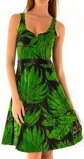Desigual verde noit Vestido Sin Mangas Cuello En V Talla M