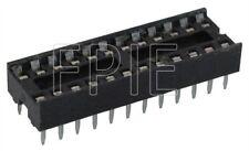 Lot 4 24 Pin IC Narrow DIP Socket (2200-6858)