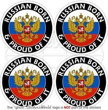RUSSLAND Russisch Geboren & Stolz Russia 50mm Auto Aufkleber x4 Vinyl Stickers