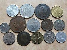 Lot sympa 14 pièces de monnaie différentes d' ITALIE ITALIA ITALY