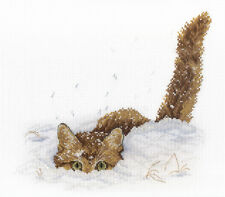 "Counted Cross Stitch Kit MP Studio - ""Cat in the snow"""
