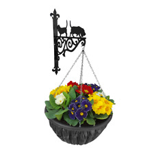 Basset Hound Dog Ornamental Hanging Bracket Flower Basket