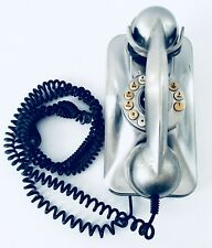 Silver Chrome Grand Wall Phone Telephone Pottery Barn Vintage Style Working Nice