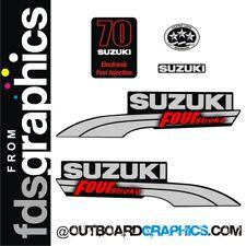 Suzuki DF70EFI four stroke outboard engine decals/sticker kit