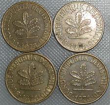 10 Pfennig 1978 D F G J Kompletter Satz