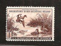 RW9 = Mint-LH 1942 U.S.Duck Stamp ~ $1 Baldpates Ducks