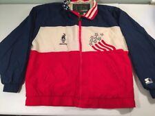 VTG 1996 Atlanta Olympics Starter Jacket 90s USA Flag Stars Stripes *L
