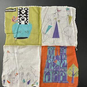 Vintage Swissair Handkerchief Mid Century Design R & C Schonhaus
