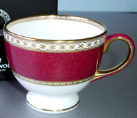 Wedgwood Ulander Powder Ruby Tea Cup Leigh Made in England New in Box