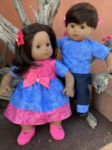 AMERICAN GIRL Bitty Baby Twins Hispanic  Dark Brown  Hair, Brown Eyes.