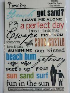 Scrapbooking Rub On Stickers Beach, Summer, Vacation, Sand