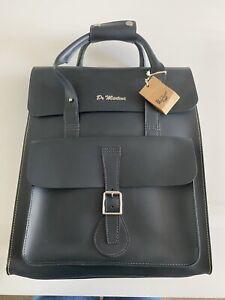 Dr Martens Large Leather Navy Backpack