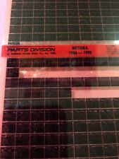 Acura Integra Parts Microfiche 1986-1989