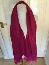 Women's Lovely Pashmina Dark Pink  Scarf Excellent Condition