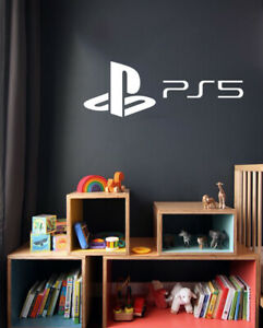 Gamers Decals Sony Playstation 5 Logo Wall Art Stickers Vinyls Decals Kids room