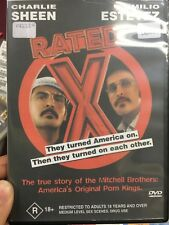 Rated X ex-rental region 4 DVD (2000 Emilio Estevez / Charlie Sheen drama movie)