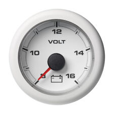 "VDO Marine 2-1/16"" (52MM) OceanLink Battery Voltage Gauge - White Dial & Bez"