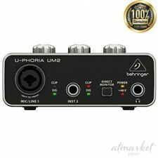 Bellinger USB audio interface UM2 2x2 Black DTM DAW genuine from JAPAN
