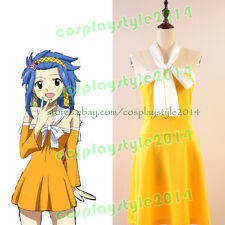Fairy Tail Shadow Gear Levy McGarden Cosplay Costume Outfit Attire Party Dress