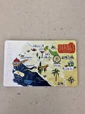 NORDSTROM ORANGE COUNTY CALIFORNIA GIFT CARD NEW, MINT, PIN COVERED
