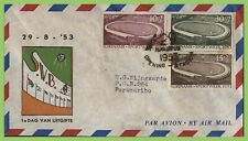 Surinam 1953 Sports Week set on First Day Cover