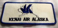 "Vintage KENAI AIR ALASKA Patch 4-1/2"" Long x 2-3/8"" wide"