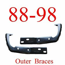 88 98 Chevy GMC 2Pc OUTER Front Bumper Braces, L&R Set, Fits Gas & Diesel!