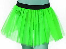 Plus Size Uv Neon Green Tutu Skirt Dance Fun fancy costume Birth day Party USA