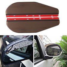 2x Black Rear View Side Mirror Sun Visor Shade Rain Shield Water Guard Universal